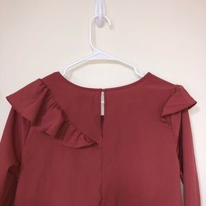 Kensie Tops - Burnt Orange Kensie Blouse
